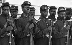 Men of Company E, 4th U.S. Colored Infantry, at Fort Lincoln, District of Columbia, 1865