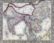 South and East Asia, 1866, zoomable map