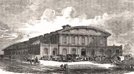 Broad and Prime Street Station, Philadelphia, Pennsylvania, 1856