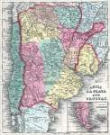 Argentina, Chile, and Uruguay, 1857, zoomable map