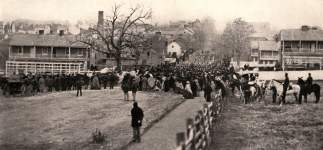 Gettysburg, with crowds returning from the dedication of the Soldiers' National Cemetery, November 19, 1863