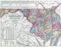 Maryland and Delaware, 1857, zoomable map