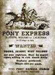 Pony Express Recruiting Poster, 1860