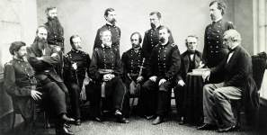 Military Commission appointed to try the accused Lincoln Conspiracy plotters, Washington DC, May 1865, detail