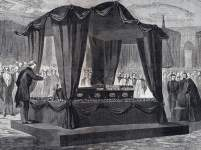 President Lincoln's White House Funeral Service, Washington, D.C., April 19, 1865, artist's impression, detail