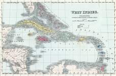 Caribbean and West Indies, 1857, zoomable map