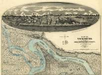 Vicksburg, Mississippi, 1863, zoomable map