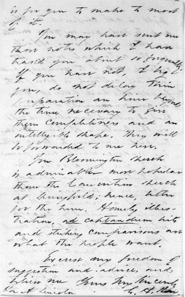 Charles Henry Ray to Abraham Lincoln, July 27, 1858 (Page 4)