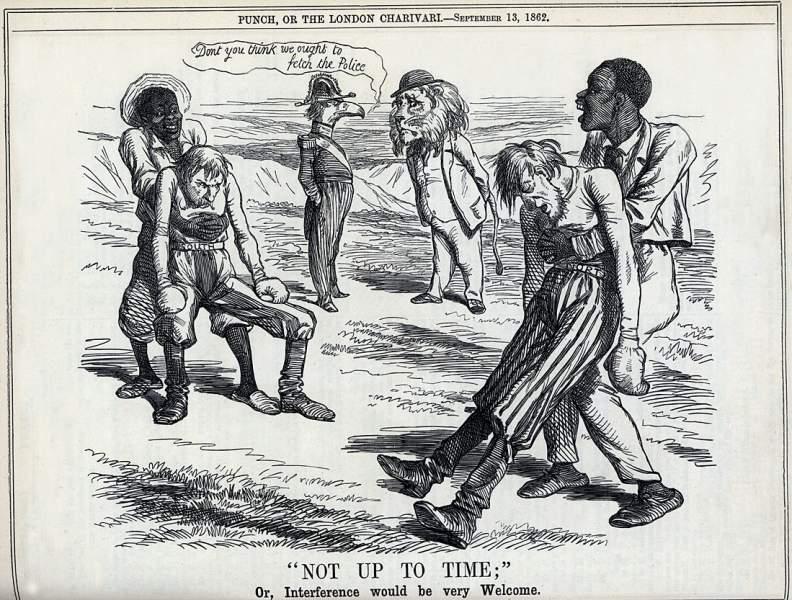 """'Not Up To Time;' Or, Interference would be very Welcome,"" cartoon, September 13, 1862"