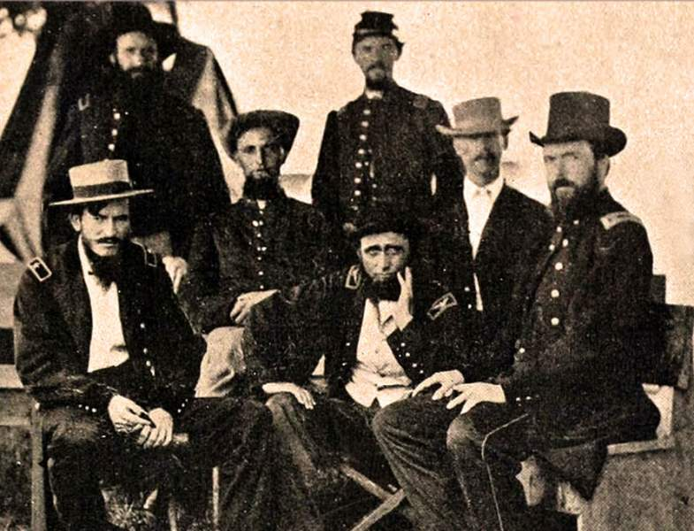 Colonel Benjamin Henry Grierson and his staff, May 1863