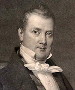 James Buchanan, engraving, 1840, detail