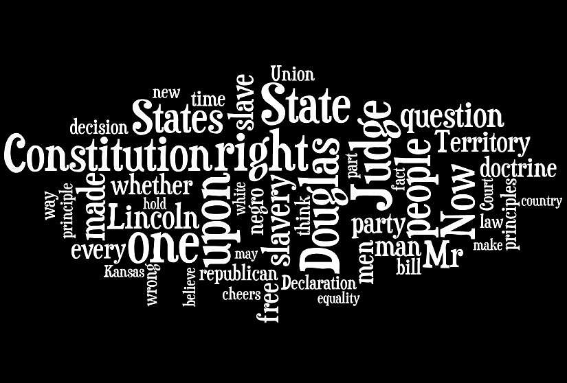 Fifth Lincoln and Douglas Debate, Galesburg, Illinois, October 7, 1858, word cloud
