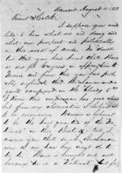 Thomas C. Sharp to Ozias Mather Hatch, August 11, 1858 (Page 1)