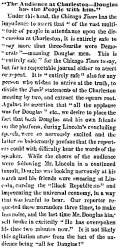 """The Audience at Charleston,"" Chicago (IL) Press and Tribune, September 22, 1858"