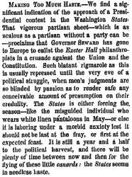 """Making Too Much Haste,"" New York Times, May 21, 1859"
