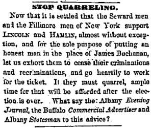 """Stop Quarreling,"" Chicago (IL) Press and Tribune, May 30, 1860"