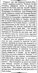 """Vermont and the Personal Liberty Bill,"" New York Times, December 7, 1860"