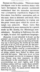"""Secession Explained,"" Lowell (MA) Citizen & News, December 26, 1860"