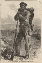 """The Escaped Slave in the Union Army,"" Harper's Weekly, July 2, 1864"