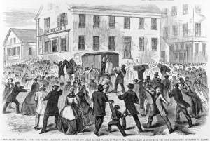 Shoemakers' strike at Lynn, Massachusetts, March 17, 1860, zoomable image