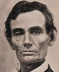 Abraham Lincoln, 1858, detail