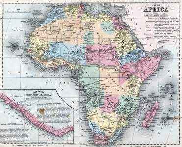 Africa, 1857, zoomable map