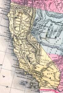 California, 1857, zoomable map