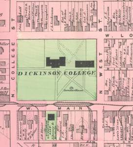 Dickinson College, 1872, map detail