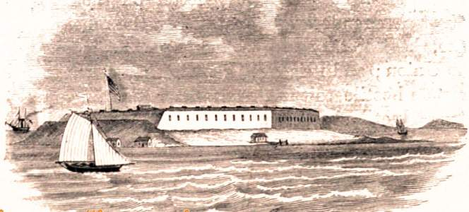 Fort Warren, Boston Harbor, Massachusetts, 1861, artist's impression