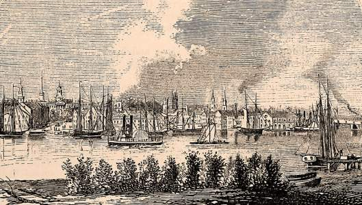 Hartford, Connecticut, 1861, artist's impression
