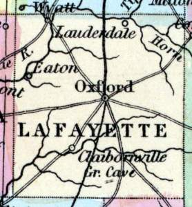 Lafayette County, Mississippi, 1857