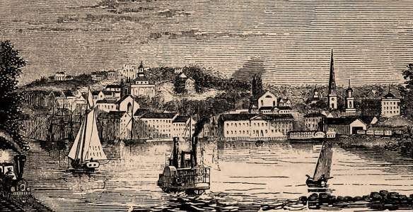 Norwich, Connecticut, 1861, artist's impression