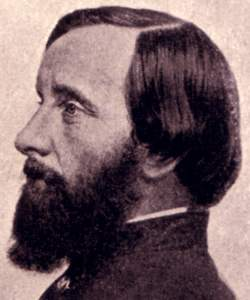 Thomas Wentworth Higginson, profile view, c1864, detail